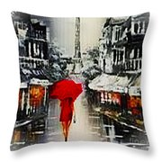 Lady In Paris Throw Pillow
