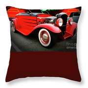 Pow Wow Lady In Red Throw Pillow