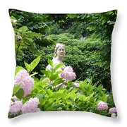 Lady In Salzburg Garden Throw Pillow