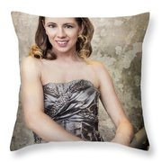 Lady In Silver Throw Pillow