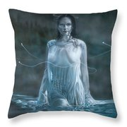 Lady In The Lake Throw Pillow
