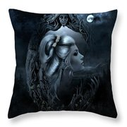 Lady In The Mirror Throw Pillow