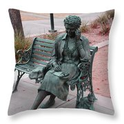 Lady In The Park Throw Pillow