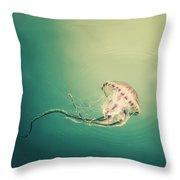 Lady Jellyfish Throw Pillow