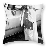 Lady Liberty Marge Stukel Parade Tucson Arizona  Throw Pillow
