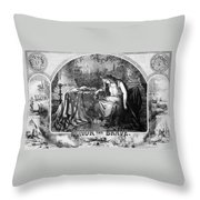 Lady Liberty Mourns During The Civil War Throw Pillow