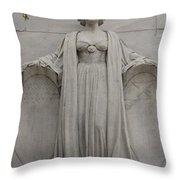 Lady Liberty On Alamo Monument Throw Pillow