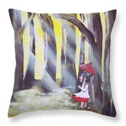 Lady Lost Throw Pillow