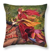 Lady Lunete Throw Pillow by Melissa A Benson