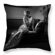 Lady Miguel Throw Pillow