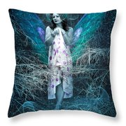 Lady Of Forest Throw Pillow