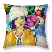 Lady Of Le Piviones Throw Pillow