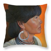 Lady Of Sapa Throw Pillow