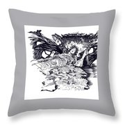 Lady Of Shalot Throw Pillow