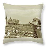 Lady Of The Derby Throw Pillow