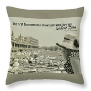 Lady Of The Derby Quote Throw Pillow