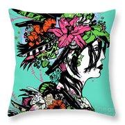 Lady Of The Garden Throw Pillow