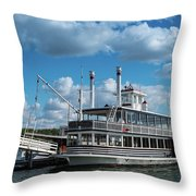 Lady Of The Lake Wisconsin Throw Pillow