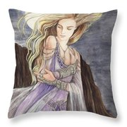 Lady Of The Moon Throw Pillow