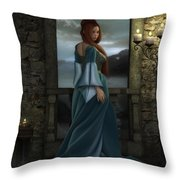 Lady Of The North Throw Pillow