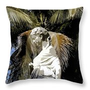Lady Of The Palms Throw Pillow