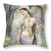 Lady Of The Web Throw Pillow