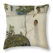 Lady On A Balcony, Capri Throw Pillow