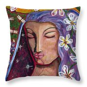 Lady Peace Throw Pillow