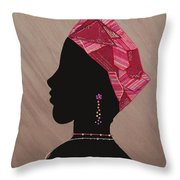 Lady Pink Throw Pillow