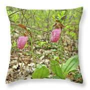 Lady Slipper 2046 Throw Pillow