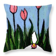 Lady Slipper And Court Throw Pillow