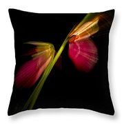Lady Slippers As Running Shoes Throw Pillow