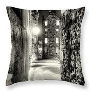 Lady Stairs Close, Edinburgh Old Town. Throw Pillow