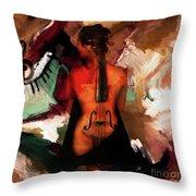 Lady Violin 01 Throw Pillow