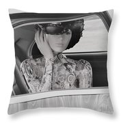 Lady Waiting Throw Pillow
