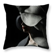 Lady With A Big Hat Throw Pillow