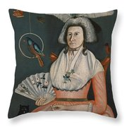 Lady With Her Pets. Molly Wales Fobes Throw Pillow