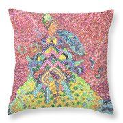 Lady With Parasol Throw Pillow