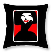 Lady With The Red Lips Throw Pillow