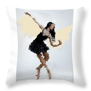 Lady With Wings Throw Pillow