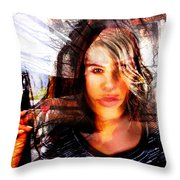 Lady X Throw Pillow