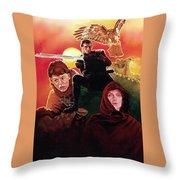 Ladyhawke Throw Pillow