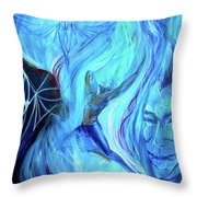 Laeyfe Becomes The Aurora Throw Pillow