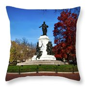 Lafayette Park In Autumn Throw Pillow