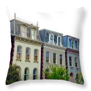 Lafayette Square Painted Ladies Throw Pillow