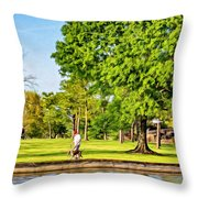 Lafreniere Park 2 - Paint Throw Pillow