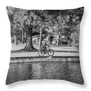 Lafreniere Park 3 - Bw Throw Pillow