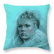 Lagertha Shieldmaiden Throw Pillow
