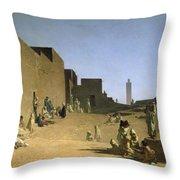 Laghouat In The Algerian Sahara Throw Pillow