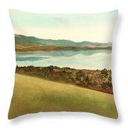 Lago Del Coghinas Throw Pillow
